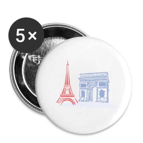 Paris - Lot de 5 grands badges (56 mm)