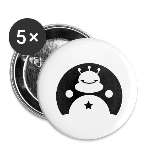 TOTALLY DARE alien - Buttons large 2.2''/56 mm(5-pack)
