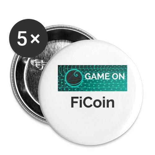 GameOn Dark Tekst - Buttons groot 56 mm (5-pack)