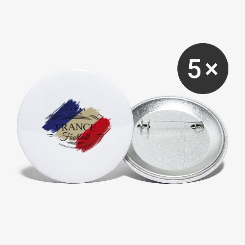France Football - Buttons groß 56 mm (5er Pack)