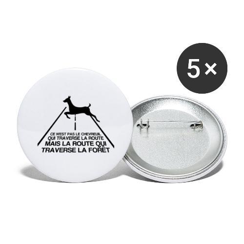 Chevreuil - Lot de 5 grands badges (56 mm)