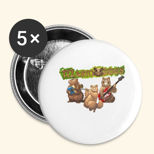 Accessoires Marmottes - Lot de 5 grands badges (56 mm)