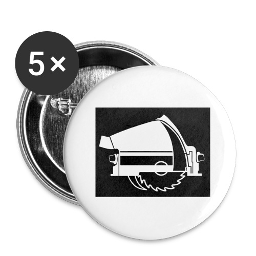saw - Buttons large 2.2''/56 mm(5-pack)