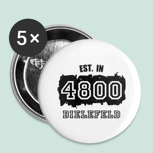 Bielefeld - Alte PLZ 4800 - Buttons groß 56 mm (5er Pack)