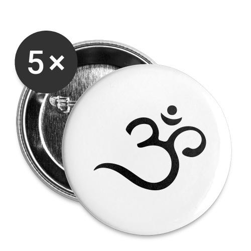 Om Mantra Symbol Yoga - Buttons groß 56 mm (5er Pack)