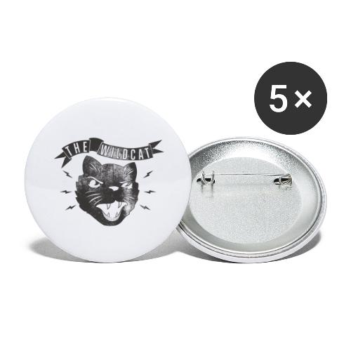 The Wildcat - Buttons groß 56 mm (5er Pack)