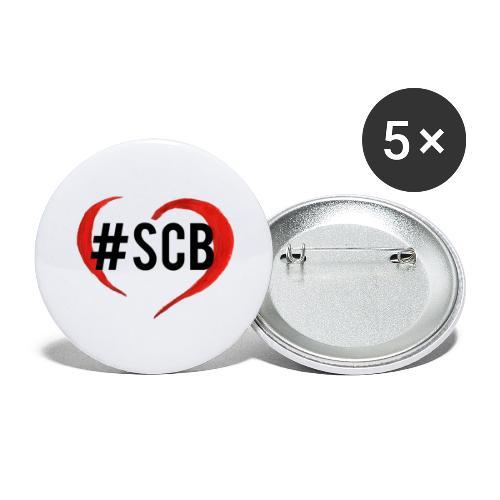 #sbc_solocosebelle - Confezione da 5 spille grandi (56 mm)