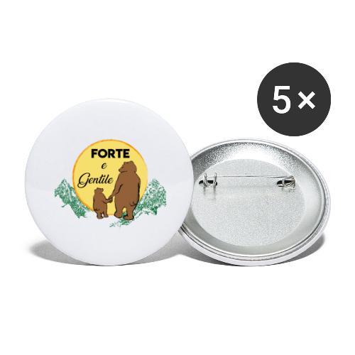 Forte e gentile - Confezione da 5 spille grandi (56 mm)
