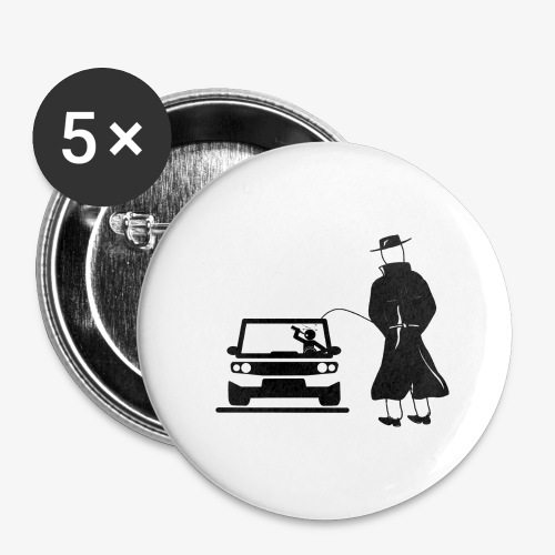Pissing Man against drunk driving - Buttons groß 56 mm (5er Pack)