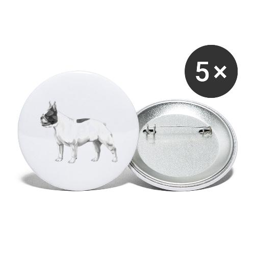 French Bulldog - Buttons/Badges stor, 56 mm (5-pack)