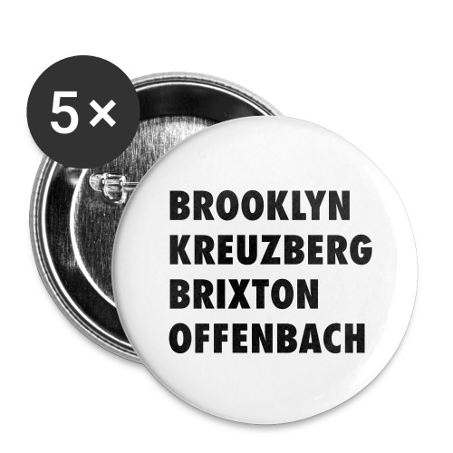 OFf the trotten paths. - Buttons groß 56 mm (5er Pack)