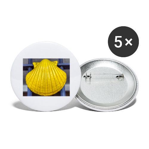 concha amarilla - Confezione da 5 spille grandi (56 mm)
