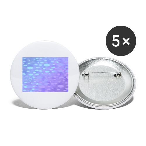 wassertropfen in der regenbogenpfütze - Buttons groß 56 mm (5er Pack)
