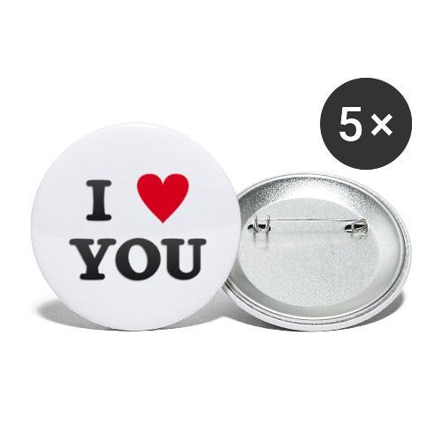 I love you - Stor pin 56 mm (5-er pakke)