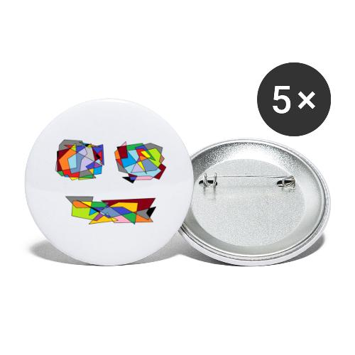 TheFace - Buttons groß 56 mm (5er Pack)