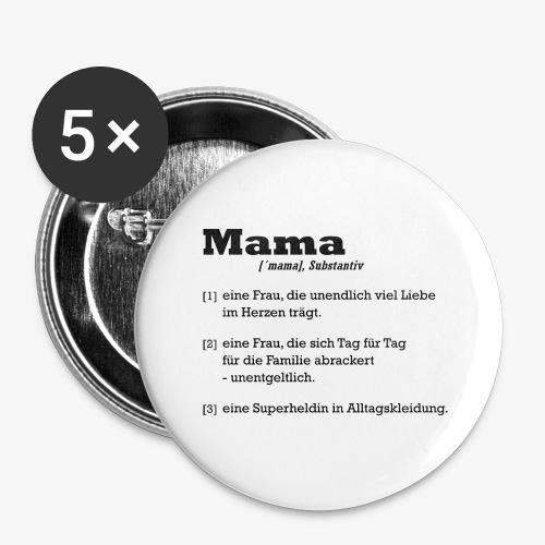 Mama Mutter - Buttons groß 56 mm (5er Pack)