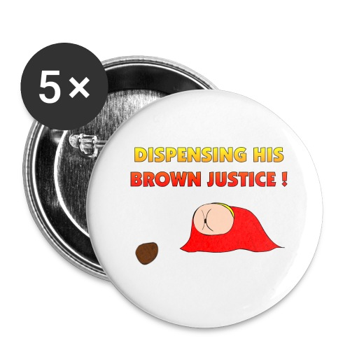 Flying Bum (diagonal) - with text - Buttons large 2.2''/56 mm(5-pack)