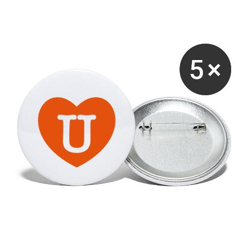 LOVE- U Heart - Buttons large 2.2''/56 mm(5-pack)