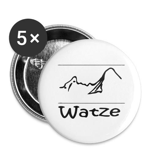 Watze - Buttons groß 56 mm (5er Pack)
