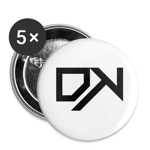 DewKee Logo Samung Galaxy S4 Case Black - Buttons large 2.2''/56 mm(5-pack)