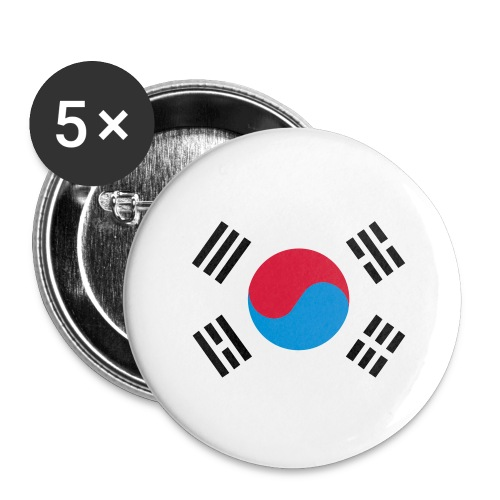 South Korea - Buttons groot 56 mm (5-pack)