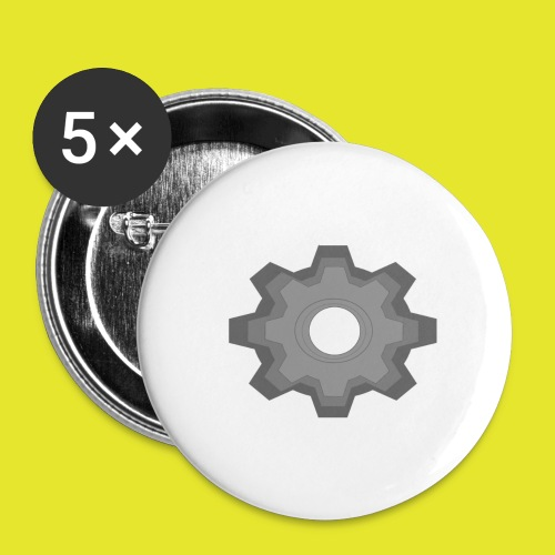 kugghjul - Stora knappar 56 mm (5-pack)
