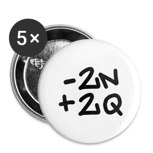-2n+2q - Buttons large 2.2''/56 mm(5-pack)