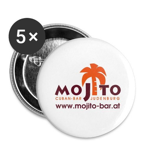 Mojito Logo - Buttons groß 56 mm (5er Pack)