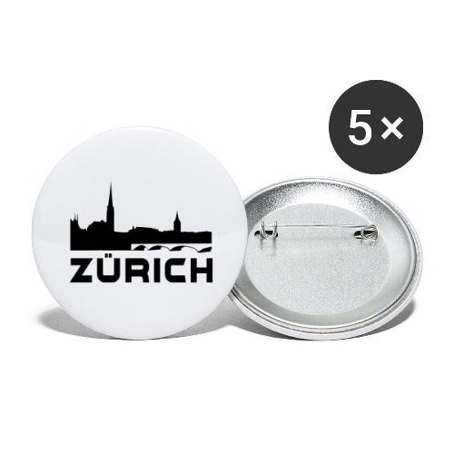 Zürich - Buttons groß 56 mm (5er Pack)