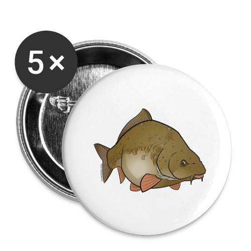 Red River: Carp - Buttons large 2.2''/56 mm (5-pack)