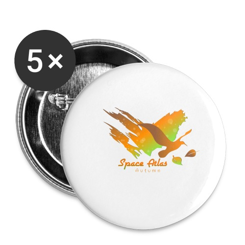Space Atlas Longshirt Tee Autumn Leaves - Buttons/Badges stor, 56 mm (5-pack)