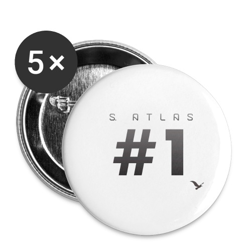 Space Atlas Ladies Long Sleeve #1 - Buttons/Badges stor, 56 mm (5-pack)