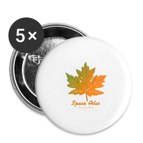 Space Atlas Long Sleeve T-shirt Autumn Leaves - Buttons/Badges stor, 56 mm (5-pack)