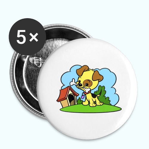 Tiny Dog - Buttons large 2.2''/56 mm(5-pack)