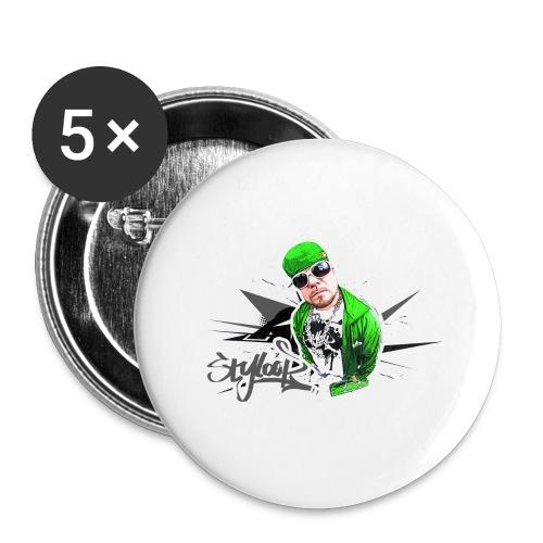 GREEN STYLOOP 2 - Buttons groß 56 mm (5er Pack)