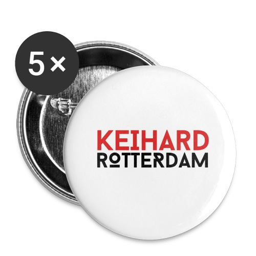 Keihard Rotterdam - Buttons groot 56 mm (5-pack)