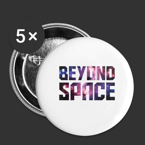 Beyond Space - Lot de 5 grands badges (56 mm)