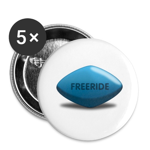 Freeride-Viagra - Buttons groß 56 mm (5er Pack)