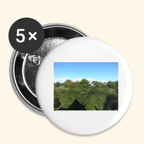 Jolie temps ensoleillé - Lot de 5 grands badges (56 mm)