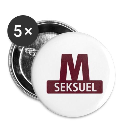 Metroseksuel - Buttons/Badges stor, 56 mm (5-pack)