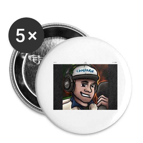 Comparns - Stora knappar 56 mm (5-pack)