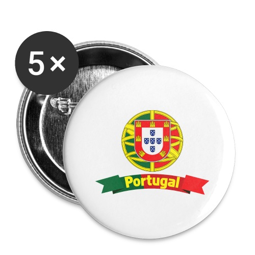 Portugal Campeão Europeu Camisolas de Futebol - Buttons large 2.2''/56 mm(5-pack)