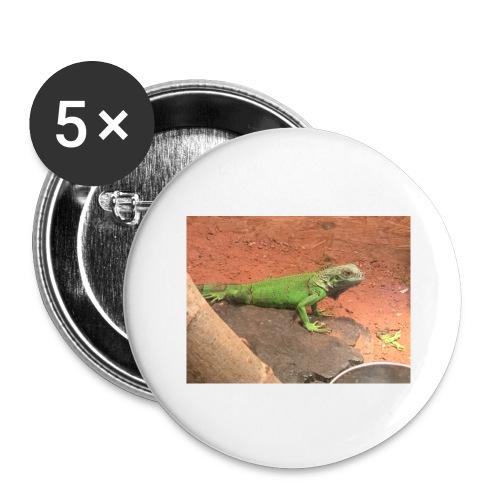 The Leguan - Buttons groß 56 mm (5er Pack)