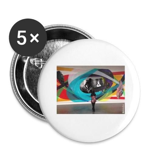 Shaka saxo - Lot de 5 grands badges (56 mm)