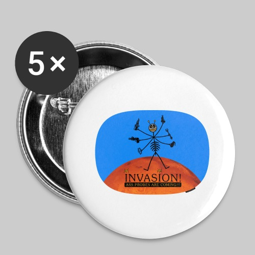 VJocys Invasion Mars - Buttons large 2.2''/56 mm (5-pack)