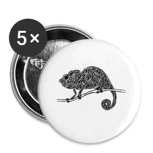 Chameleon - cameleon - Lot de 5 grands badges (56 mm)