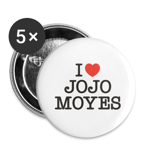 I LOVE JOJO MOYES - Buttons/Badges stor, 56 mm (5-pack)