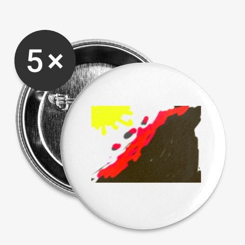 flowers - Buttons/Badges stor, 56 mm (5-pack)