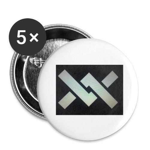 Original Movement Mens black t-shirt - Buttons large 2.2''/56 mm(5-pack)
