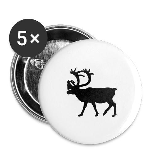 Le Caribou - Lot de 5 grands badges (56 mm)